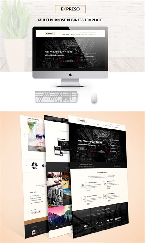 One Page Multipurpose Business Template Free Psd Download Download Psd Single Page Business Website Template