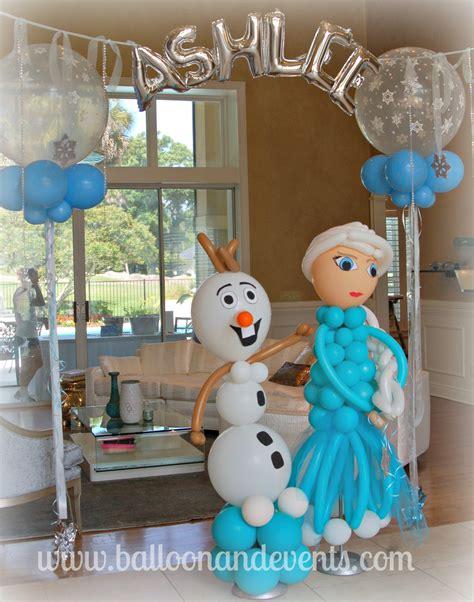 arreglos con globos de frozen decoracion con globos frozen decoracion de interiores