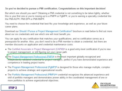 Pmesn Step By Step Guide To Filling Pmp Application Pmp Application Template