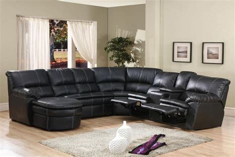 black leather sectional sofa with chaise 4 pc black bonded leather sectional sofa with recliners