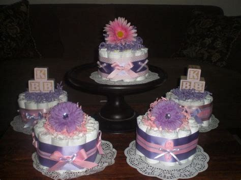 purple and pink baby shower