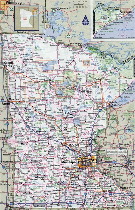 map us minnesota large detailed roads and highways map of minnesota state