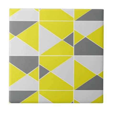 yellow pattern tiles yellow and grey ceramic tiles zazzle