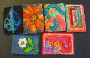punch needle rug hooking artist trading cards gunmarietextiles