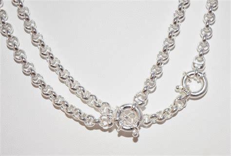 cadena de oro nudo marinero gargantillas gruesas de plata
