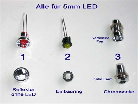 Led Sockel by Sockel F 252 R 5 Mm Led