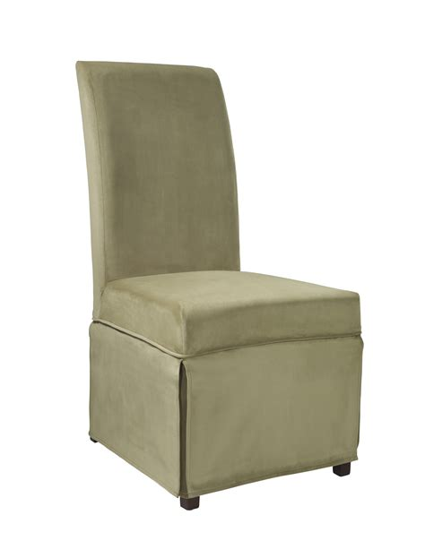 powell skirted slip cover for parsons chair single slip cover