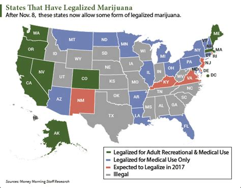 states with legal weed map states legalizing marijuana in 2017