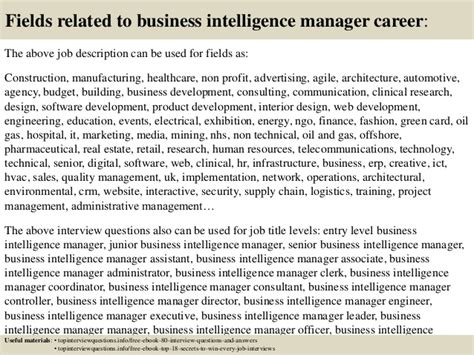 top 10 business intelligence manager questions and answers