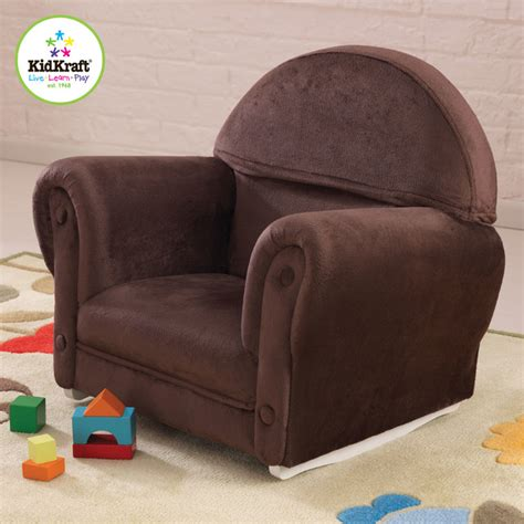 Slipcovers For Childrens Chairs by Upholstered Rocker With Slipcover In Chocolate Color
