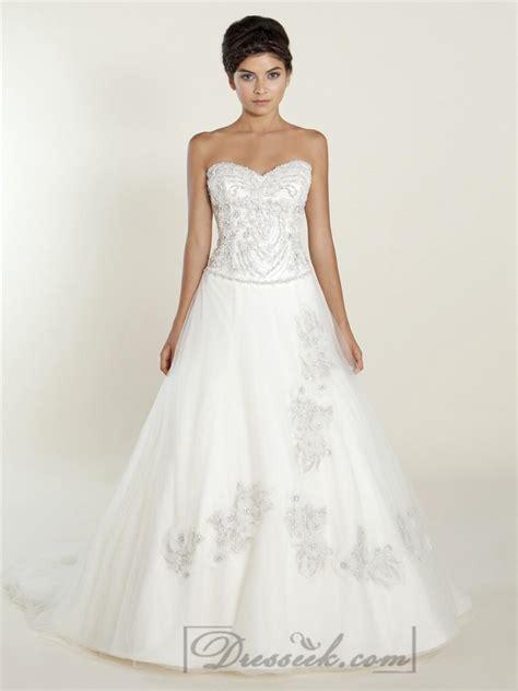 beaded bodice wedding dress a line sweetheart wedding dresses with beaded bodice