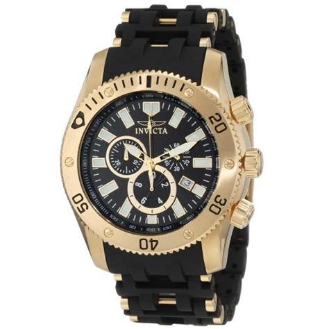 invicta s 0140 sea spider collection 18k gold ion