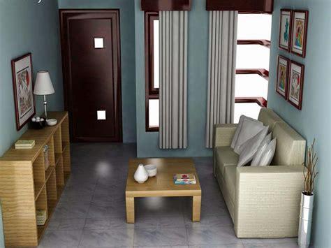 desain interior ruang tamu warna biru nyaman senang dan indah karena warna cat interior ruang tamu