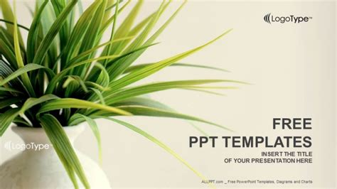 Fresh Plant Nature Powerpoint Templates Ppt Template Free Nature