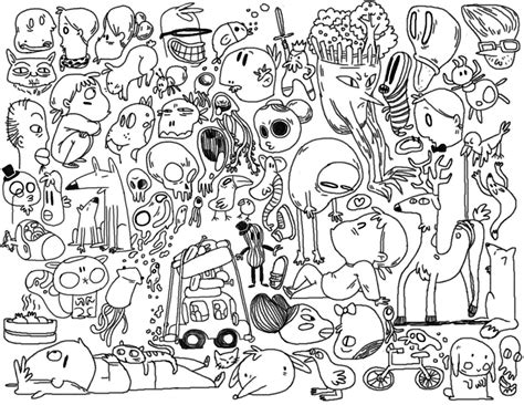 doodle coloring pages doodle coloring pages to and print for free