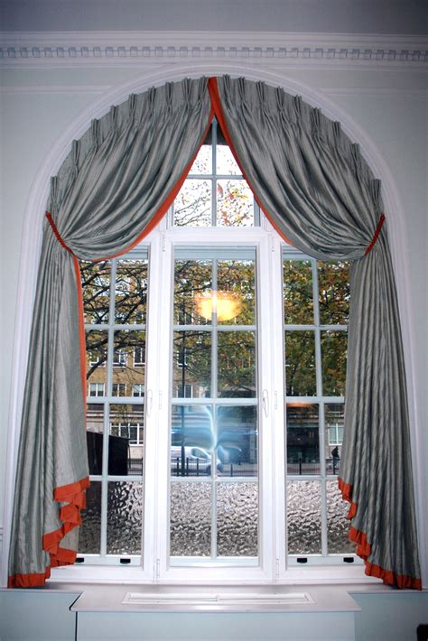 Curtains For Arched Windows Fetching Arched Windows Retro Architectural Accents Picturesque Grey Silk Curtain For