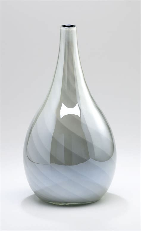 small white glass vase by cyan design