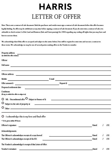 real estate offer letter write