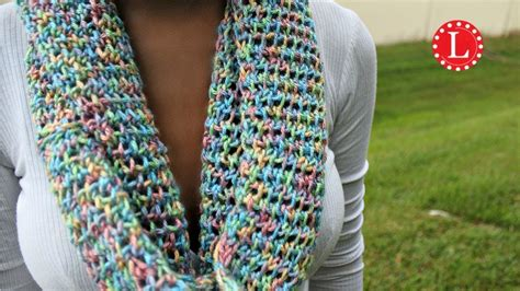 infinity scarf pattern knit youtube loom knit infinity scarf on round loom mock crochet stitch