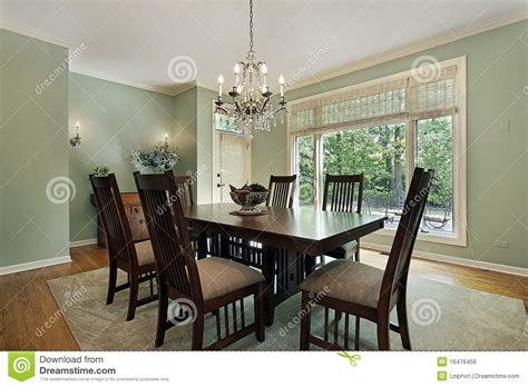 Green Dining Room Wall Dining Room With Green Walls Royalty Free Stock Image