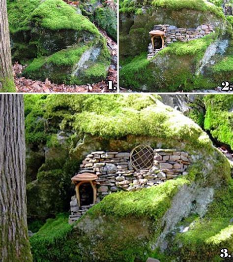 cutest miniature stone houses  beautify garden  summer
