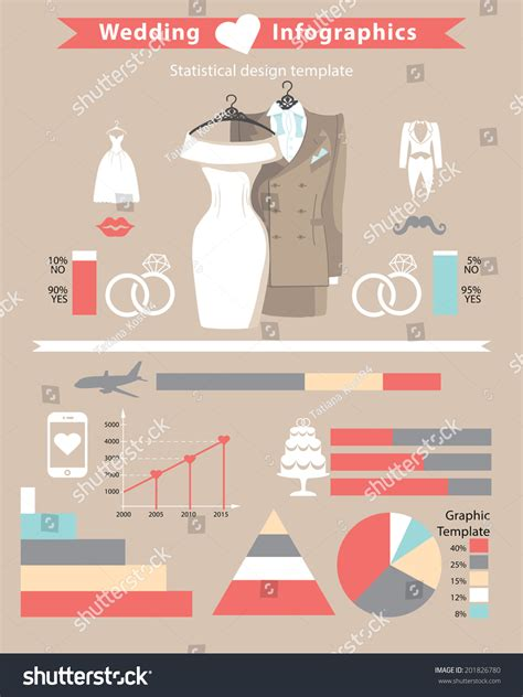 Wedding Infographic Setcute Cartoon Wedding Clothing Stock Vector 201826780 Shutterstock Wedding Infographic Template