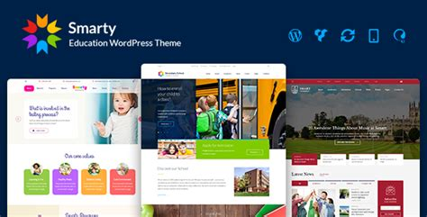 Smarty V2 7 Education Wordpress Theme For Kindergarten Blogger Template Free Graphics Smarty Web Template