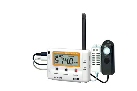 light intensity data logger rtr 574 with uv light temperature and humidity sensors