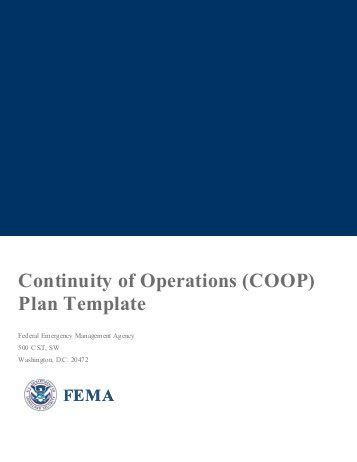 Cscope Lesson Plan Template Continuity Of Operations Plan Template