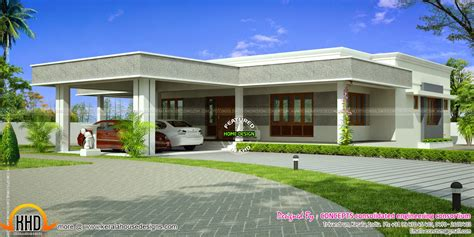 flat roof house plans 1365 sq ft 2 bedroom small house design keralahousedesigns