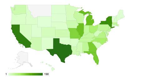javascript us states map javascript map of united states with geocoordinate plots
