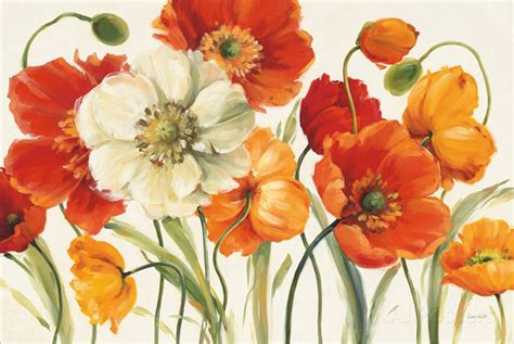 the modern flower painter aliexpress com buy modern art oil painting flower poppies melody by lisa audit painting canvas
