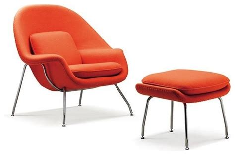 burnt orange chair and ottoman eero saarinen womb chair and ottoman in burnt orange by
