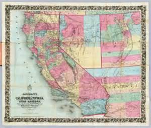 california utah map bancroft s map of california nevada utah and arizona