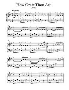 Great Sheets by Free Piano Arrangement Sheet Music How Great Thou Art