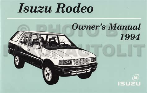 service manual repair 1994 isuzu rodeo theft system 1991 1998 isuzu rodeo repair 1991 1992