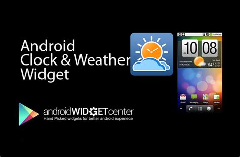 weather clock widget android android weather and clock app android widget center