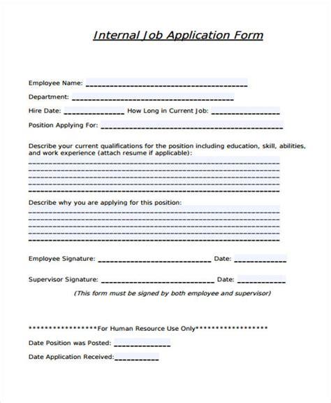 internal job application form template 35 free application form template