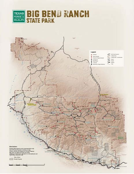 big bend state park facility and trail map big