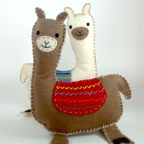pattern for making felt animals llama sewing pattern felt llama pattern llama plushie