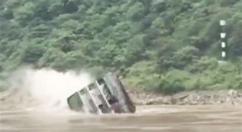 boat crash viral video watch viral video reveals shocking moment cargo ship