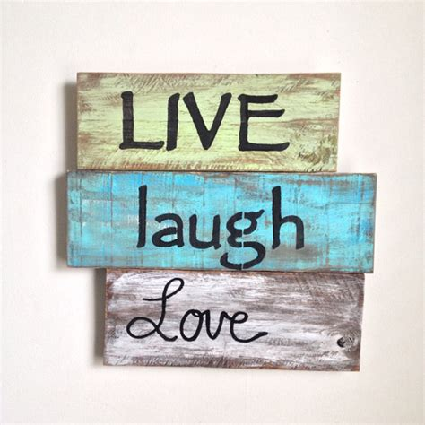 live laugh signs live laugh wood sign painted on reclaimed wood
