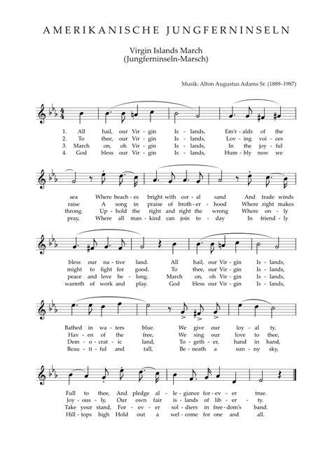 full version national anthem гимн американских виргинских островов это что такое