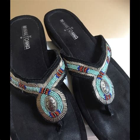 minnetonka beaded sandals 80 minnetonka shoes minnetonka beaded sandals