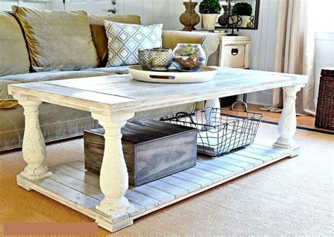 Distressed White Coffee Table Distressed White Coffee Table
