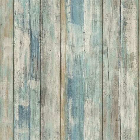 rmkwp blue distressed wood peel  stick wallpaper ebay