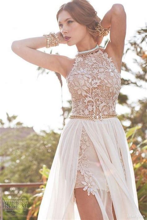 custom wedding dress sexy halter lace applique beach wedding dress bridal gown