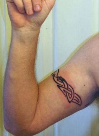 simple tattoo on biceps simple armband tattoo