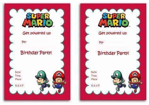 Mario Birthday Card Template