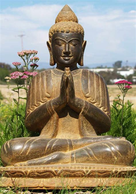buddha statues or sculptures buddhist statue and hindu sold praying garden buddha statue 25 quot 69ls2 hindu gods